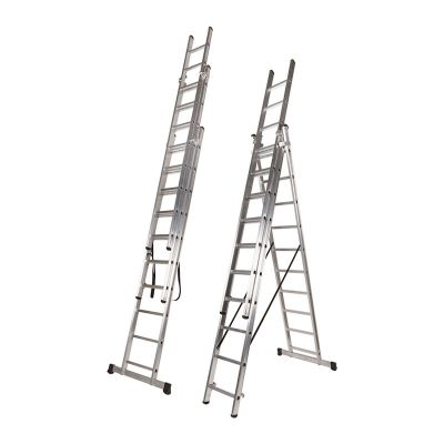Ferral Tripla Aluminium Transformable Ladder 3 Section
